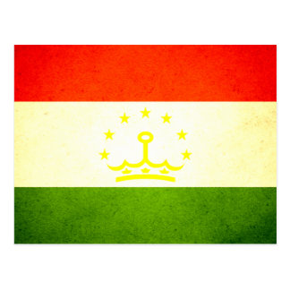 Sun kissed Tajikistan Flag Postcard