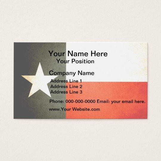 Sun kissed Texas Flag Business Card