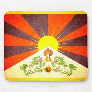 Sun kissed Tibet Flag Mouse Pad