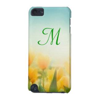 Sun Kissed Tulips Monogram Initial IPOD Touch iPod Touch 5G Cases