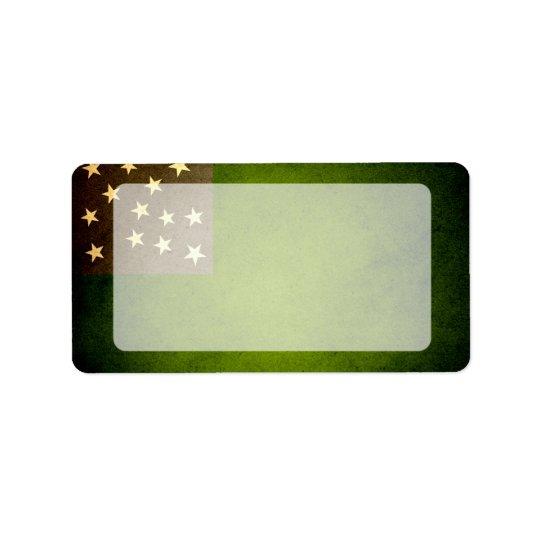 Sun kissed Vermont Republic Flag Address Label