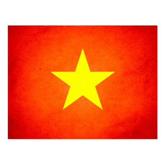 Sun kissed Vietnam Flag Postcard