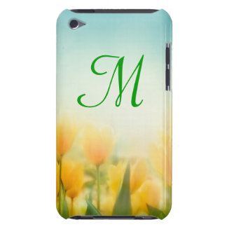 Sun Kissed Yellow Tuli Monogram Initial IPOD Touch iPod Touch Cover