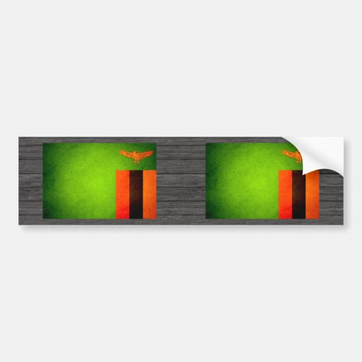 Sun kissed Zambia Flag Bumper Stickers