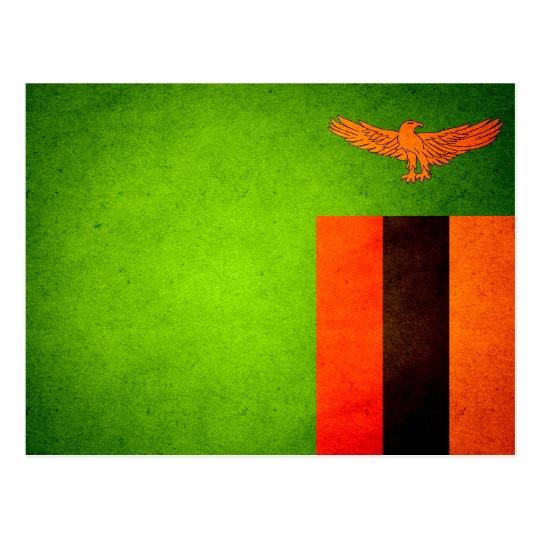 Sun kissed Zambia Flag Postcard