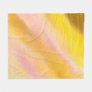 Sun Lake abstract art fleece blanket