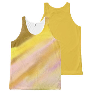 Sun Lake Design 2 All-Over Unisex Tank Top Gold