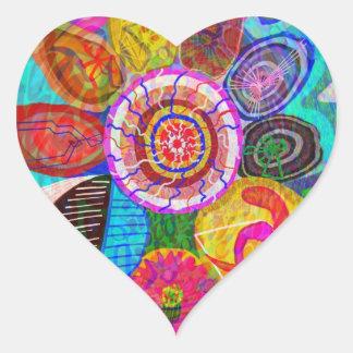 SUN Life Force on earth Heart Sticker