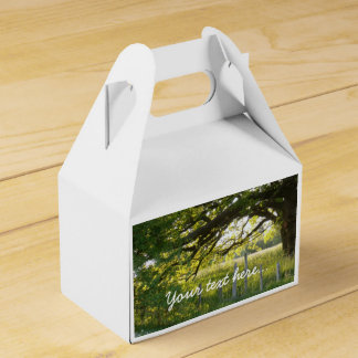 Sun Lit Field And Trees Wedding Favor Box
