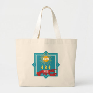 Sun Lobster Large Tote Bag