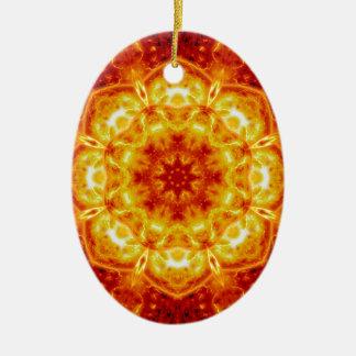 Sun Lotus.jpg Ceramic Oval Decoration
