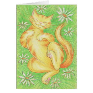 "Sun Lover ""Purrfect Day"" greetings card"