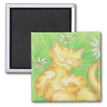 "Sun Lover ""Purrfect!' magnet square"