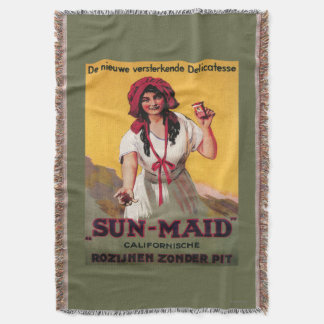 Sun-Maid California Raisin Poster Throw Blanket
