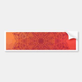 Sun mandala bumper sticker