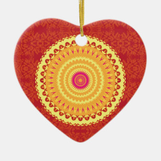 Sun Mandala Christmas Ornament