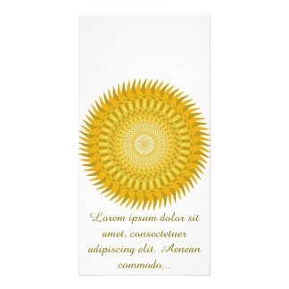 Sun Mandala in Yellow Photo Card Template