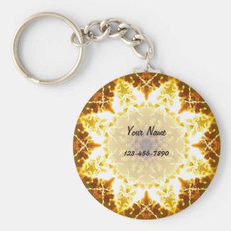 Sun Mandala Key Ring