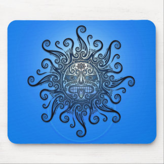 Sun Mask (blue) Mouse Pad