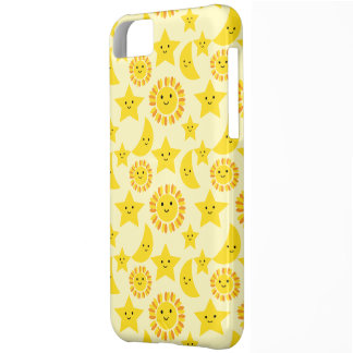 Sun Moon and star pattern iPhone 5C Case