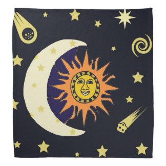 Sun Moon and Stars Bandana