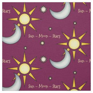 Sun Moon And Stars Custom Colour Fabric