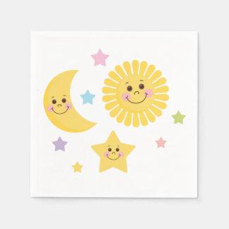 Sun, Moon and Stars Disposable Serviette