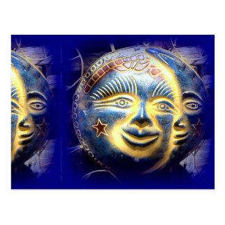 sun moon and stars postcard
