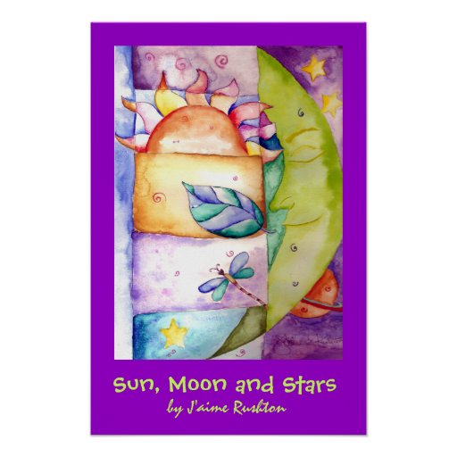 Sun, Moon and Stars Poster