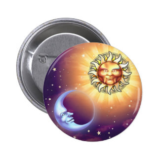 Sun & Moon Faces Button