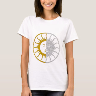SUN & MOON - gold silver T-Shirt