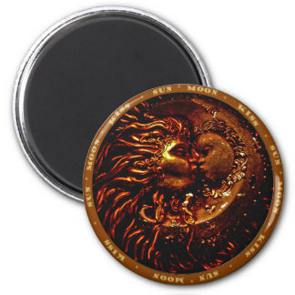 Sun,Moon,Kiss Gifts 6 Cm Round Magnet