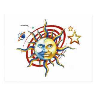 SUN-MOON POST CARD