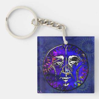 Sun Moon Prayer New Age Folk Double-Sided Square Acrylic Keychain