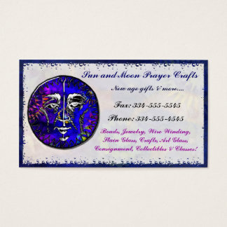Sun Moon Prayer New Age METAPHYSICAL SHOP TRADING Business Card