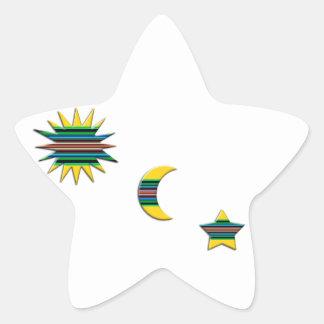 SUN MOON & STAR STAR STICKER