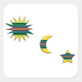 SUN MOON & STAR SQUARE STICKER