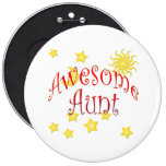 Sun Moon Stars Awesome Aunt Mother's Day Gift Pinback Button