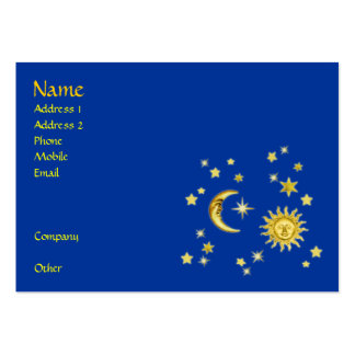 Sun, Moon & Stars Business Cards