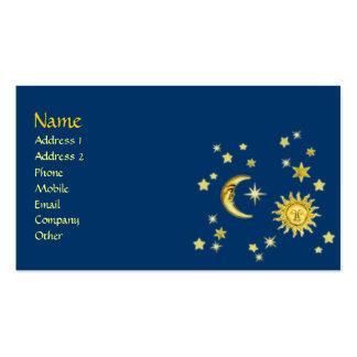 Sun, Moon & Stars Business Card Template
