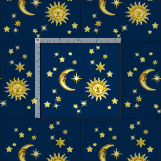 Moon fabric for sewing quilting crafts for Sun and moon fabric