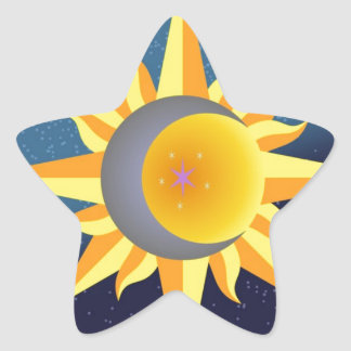 SUN MOON STARS FUSION ABSTRACT STICKERS