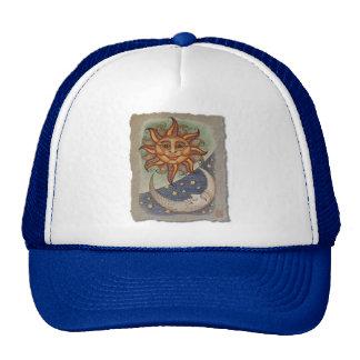 Sun Moon & Stars Mesh Hat