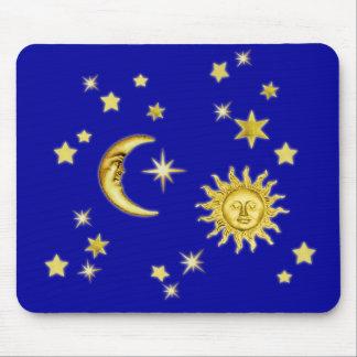 Sun, Moon & Stars Mouse Mat
