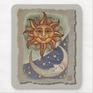 Sun Moon & Stars Mouse Pad