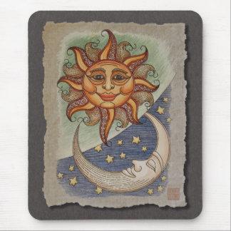 Sun Moon & Stars Mousepads