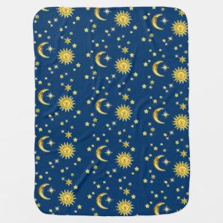 Sun, Moon & Stars Receiving Blankets