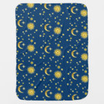 Sun, Moon & Stars Swaddle Blanket