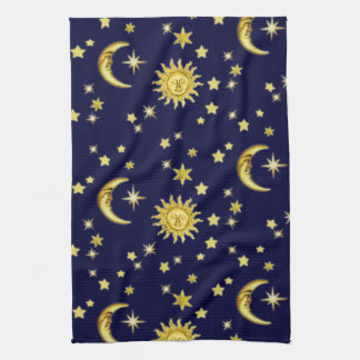 Sun, Moon & Stars Tea Towel