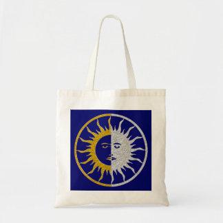 SUN & MOON Symbol - gold silver Budget Tote Bag